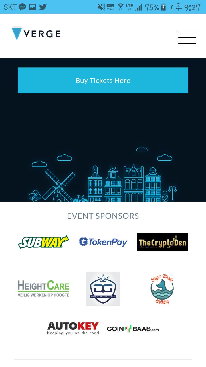 Screenshot_20180512-212716.png : 버지 6월 9일 Amsterdam 1st Meetup 스폰서 추가 coinbass.com